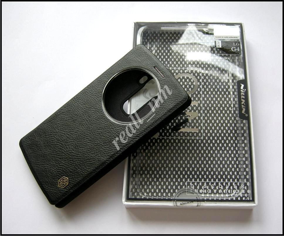 Черный чехол для LG G4 H815 H818, чехол-книжка Nillkin QIN