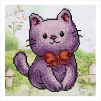 """А5 """"Котик"""" схема для частичной вышивки бисером"""