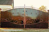 Ворота кованые Виница