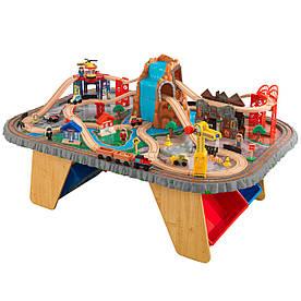 Железная дорога KidKraft Waterfall Junction Train Set and Table 17498
