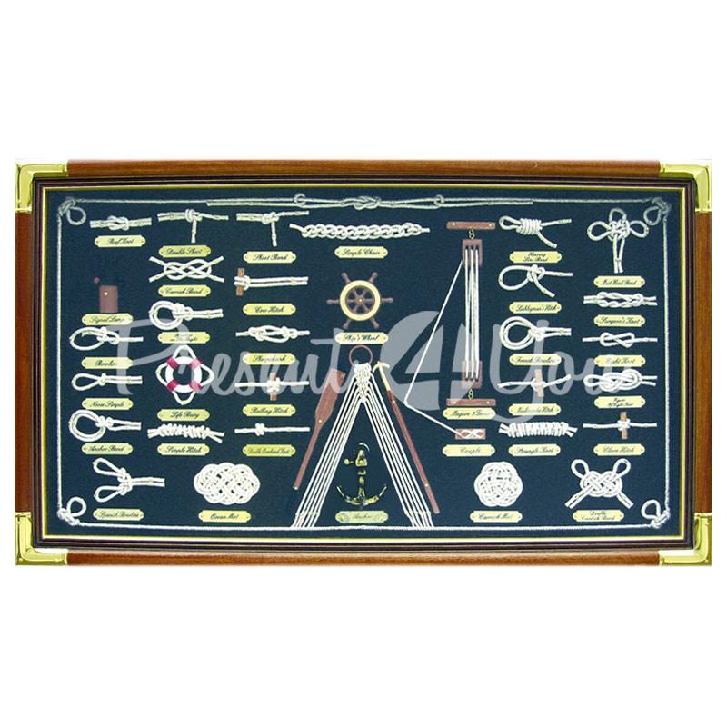 Морской сувенир картина «Морские узлы» Sea Club, 73х43 см.