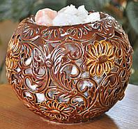 Соляной светильник Шар керамический