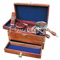 Морской сувенир письменный набор в ящике, h-12х21,5х13,5 см. Sea Club