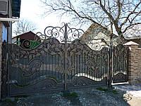 Ворота кованые Дельфин