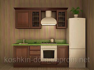 Кухня модульная Сандра 2000 мм, массив липы