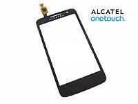 Touchscreen (сенсорный экран) для Alcatel 5020D One Touch M Pop Dual, черный, оригинал