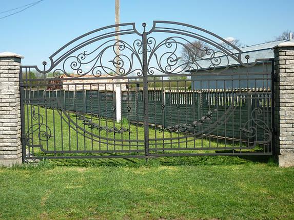 Ворота кованые Європа , фото 2