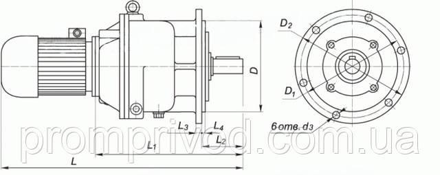 Присоединительные и габаритные размеры мотор редуктора на фланце