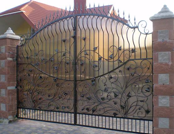 Ворота кованые Емилия , фото 2