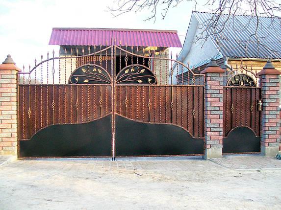 Ворота кованые Зоря-3 , фото 2