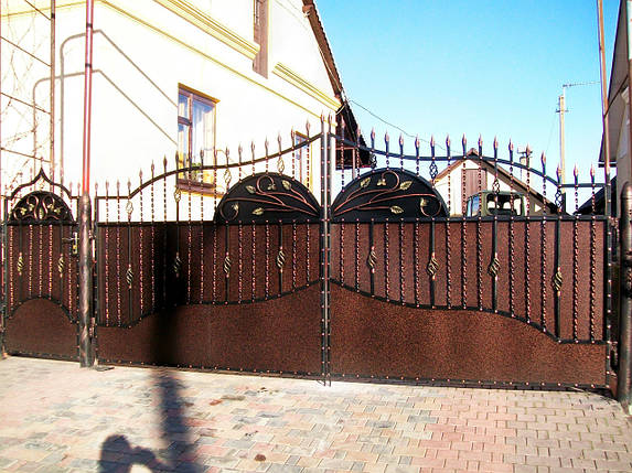 Ворота кованые Зоря-4 , фото 2