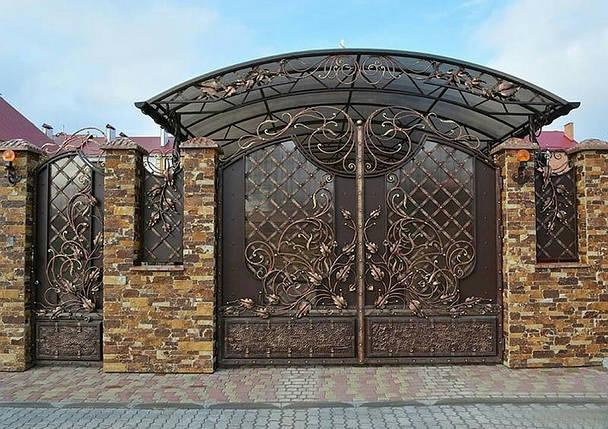 Ворота кованые Імідж ( Имидж), фото 2