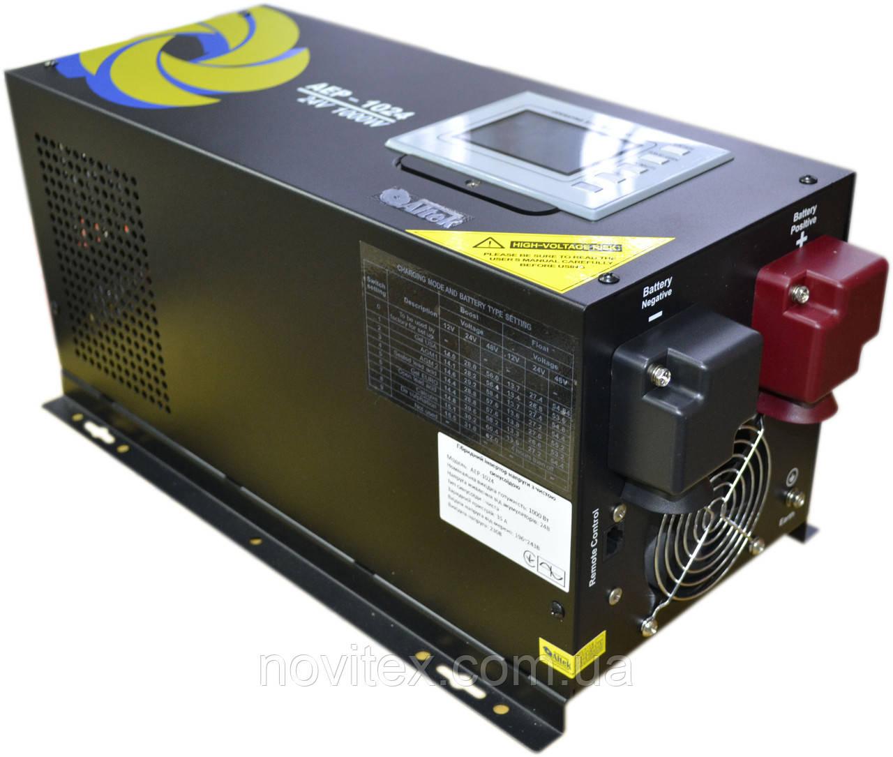 Инвертор Altek AEP-1024, 1000W/24V с функцией ИБП