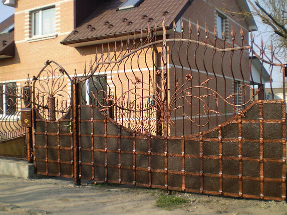 Ворота кованые Канон, Канон плюс , фото 2