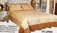 Велюровое покрывало с наволочками Alltex (HYJ9088) 230*250 (Бежевый)