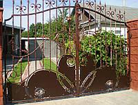 Ворота кованые Лилия