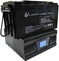Комплект резервного питания ИБП Luxeon UPS-500ZD + АКБ Luxeon LX12-80MG для 6-8ч работы газового котла, фото 1