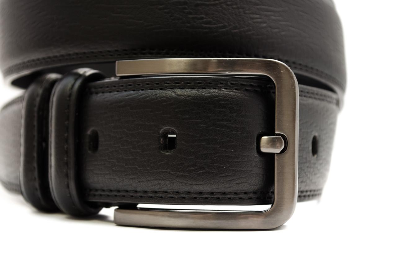 Классический кожаный мужской ремень в черном цвете  Alon (Алон) 900362