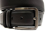 Классический кожаный мужской ремень в черном цвете  Alon (Алон) 00362