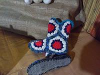 Тапочки - Сапожки для дома  вязаные крючком