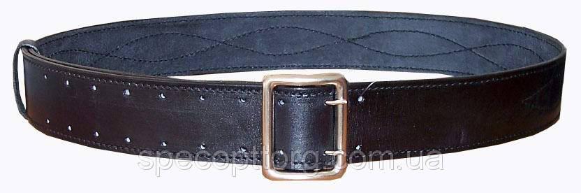 Ремень черный кожаный офицерский, фото 2