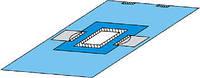 Покрытие операционное офтальм. 120х80 см с адгезивн. отверст.,d 7 см и приемн. мешк. (лам. спанл.-70 г/м2)с/т
