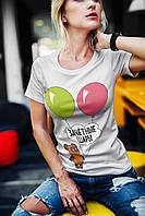 """Женская футболка """"Зачетные шары"""""""