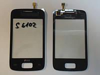 Сенсор Samsung S6102 Galaxy Y Duos Black orig + самоклейка