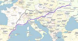 Аликанте, Испания →Ужгород - Вышне Немецке → Киев, Украина
