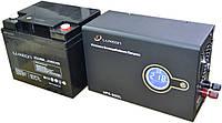 Комплект резервного питания ИБП Luxeon UPS-500L + АКБ Luxeon LX12-40MG, фото 1
