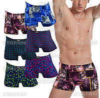 Мужские трусы боксеры бамбук Veenice 053-1 3XL 52-54. В упаковке 6 штук