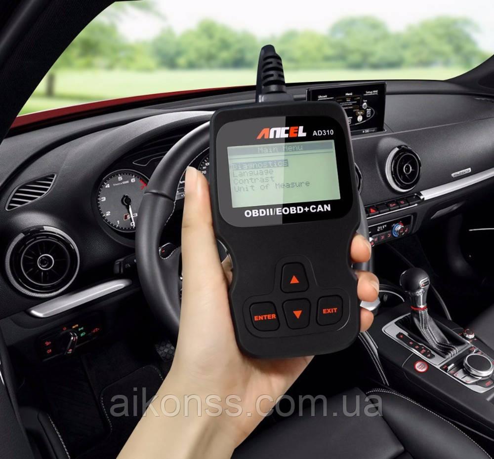 Диагностический автосканер Ancel AD310 на русском языке