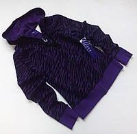 Тёмная фиолетовая толстовка для девочки.