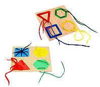 Игрушка - Шнуровка для детей  - Геометрия
