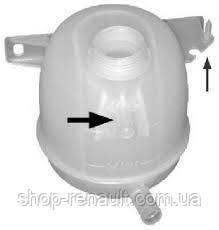 Бачок расширительный (без крышки) охлаждающей жидкости Logan, Clio II, Megane, Kangoo TOPRAN, 700 339 755