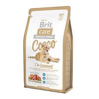 Сухой корм для кошек Brit Care Cocco (Брит Кеа Кокко), с уткой и лососем для привередливых котов, 7 кг