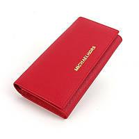 Кошелек женский Michael Kors кожаный красный
