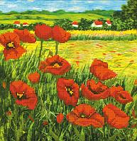 Картина для вышивки бисером А3 Маки в поле КМР 3018