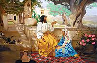 Схема для вышивки бисером Беседа Иисуса с Марией КМР 3019
