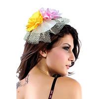 Цветочная мини-шляпка