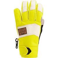 Перчатки женские лыжные сноубордические Wed'ze FREE 700 желтые