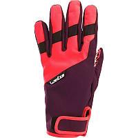Перчатки женские лыжные сноубордические Wed'ze Free 300 фиолетовые