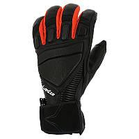 Перчатки кожаные мужские лыжные сноубордические Wed'ze TIMEBREAKER черные