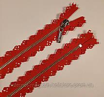 Молния плательная 50см красный 3мм 1 бегунок