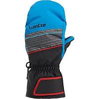 Перчатки детские лыжные сноубордические Wed'ze SLIDE 300 черные