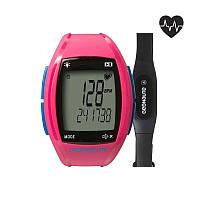 Часы водонепроницаемы, пульсометр женский Geonaute ONRHYTHM 310 розовые
