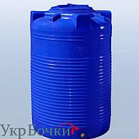 Емкость пластиковая для воды 500 литров вертикальный бак, 2 слоя