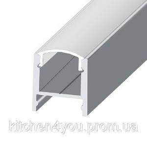 ЛПС 17 алюминиевый профиль для светодиодной ленты, накладной 17 х 16 мм.