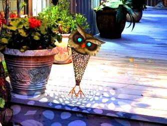 OWL Фонарь уличный солнечный филин  (IP44)