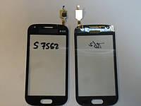 Сенсор Samsung S7560 S7562 Galaxy Trend Duos orig + самоклейка black